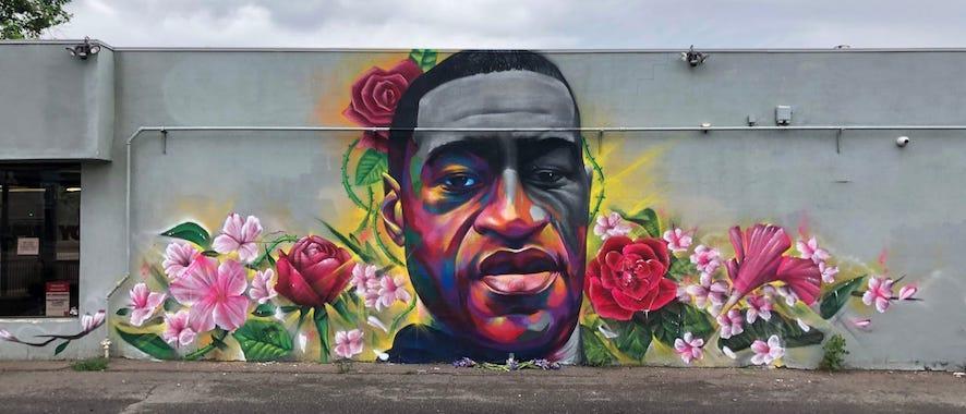 Marvelous Mural of George Floyd